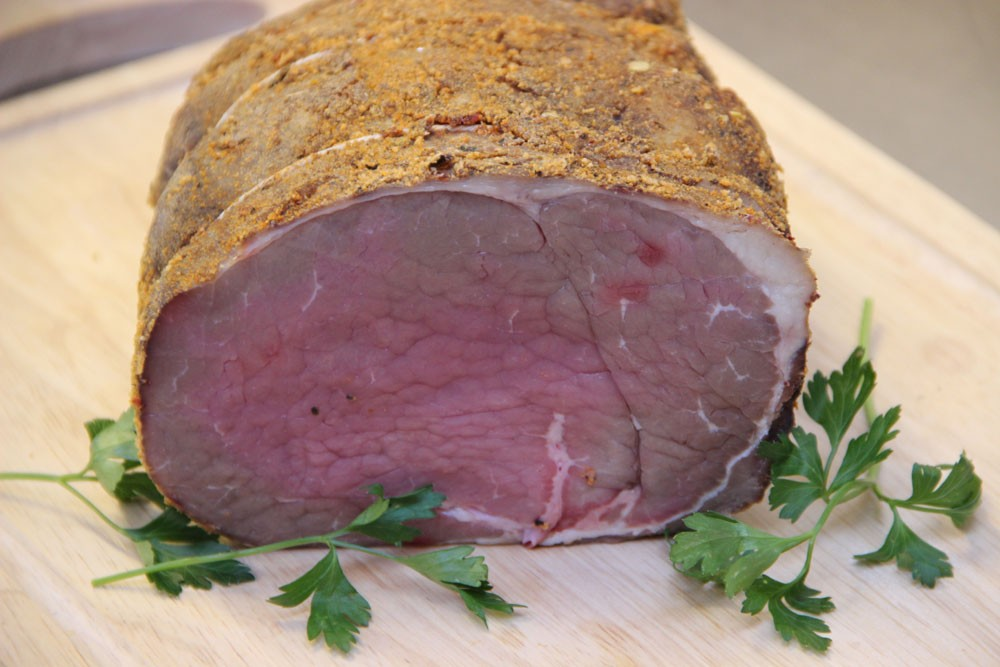 Extra Mature Silverside in a peppercorn crust